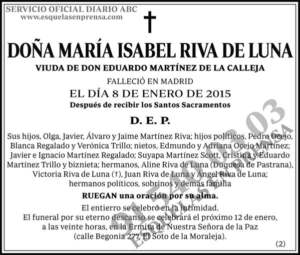 María Isabel Riva de Luna